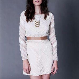 $398 Free People FUTURE HEIRLOOM Holiday Dress 6 S